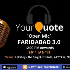 YourQuote Open Mic Faridabad 3.0