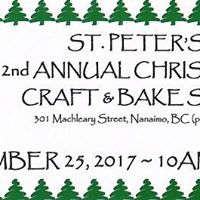 St. Peters 2nd Annual Christmas Craft &amp Bake Sale