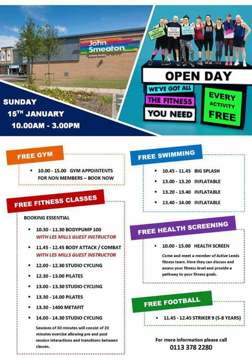 John Smeaton Leisure Centre Open Day