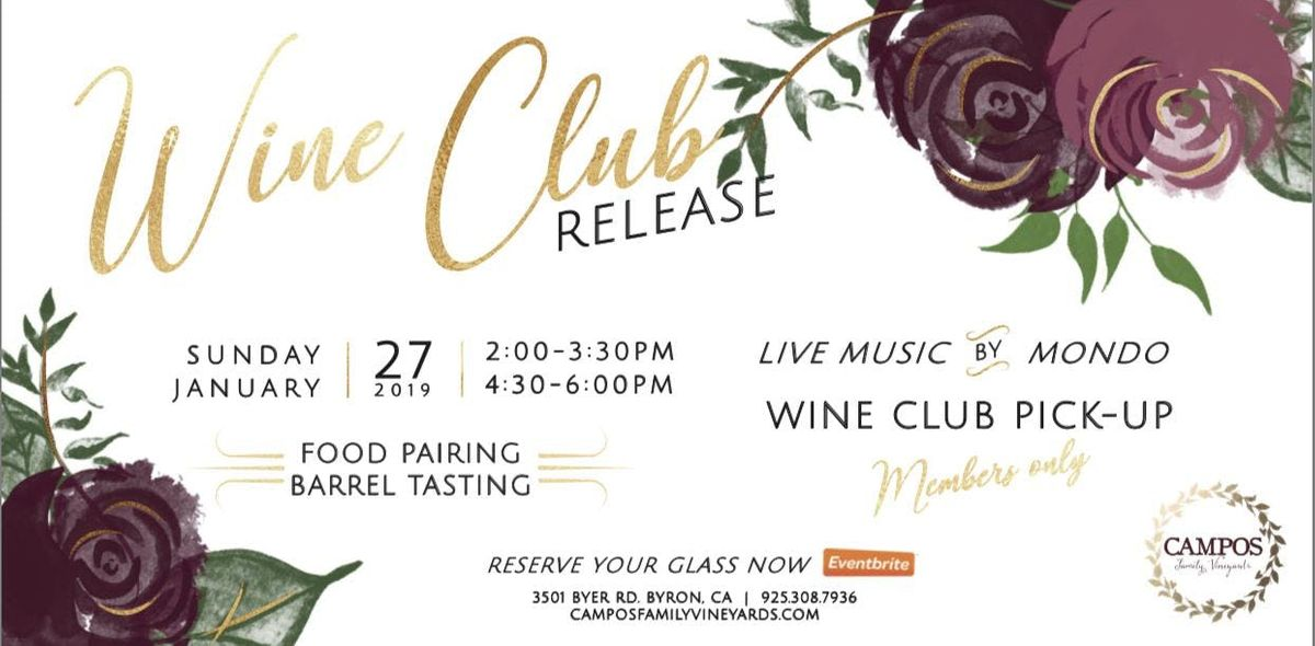 Wine Club Release - For Members Only