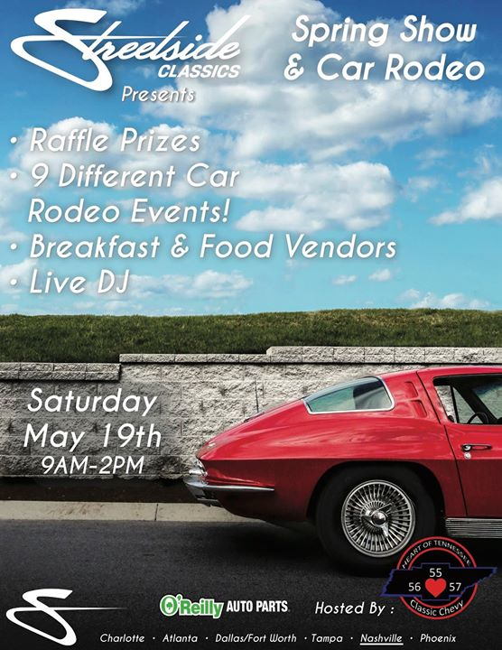 Spring Show Car Rodeo At Streetside Classics Nashville La Vergne - Streetside classic car show