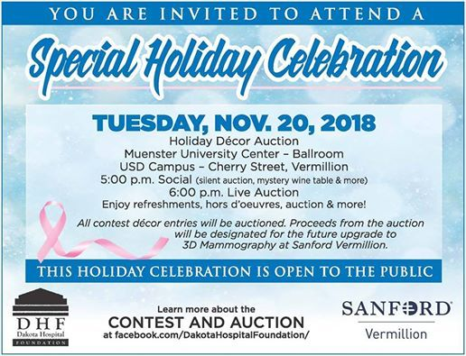 Usd Vermillion Campus Map.Dakota Hospital Foundation Special Holiday Celebration At Usd