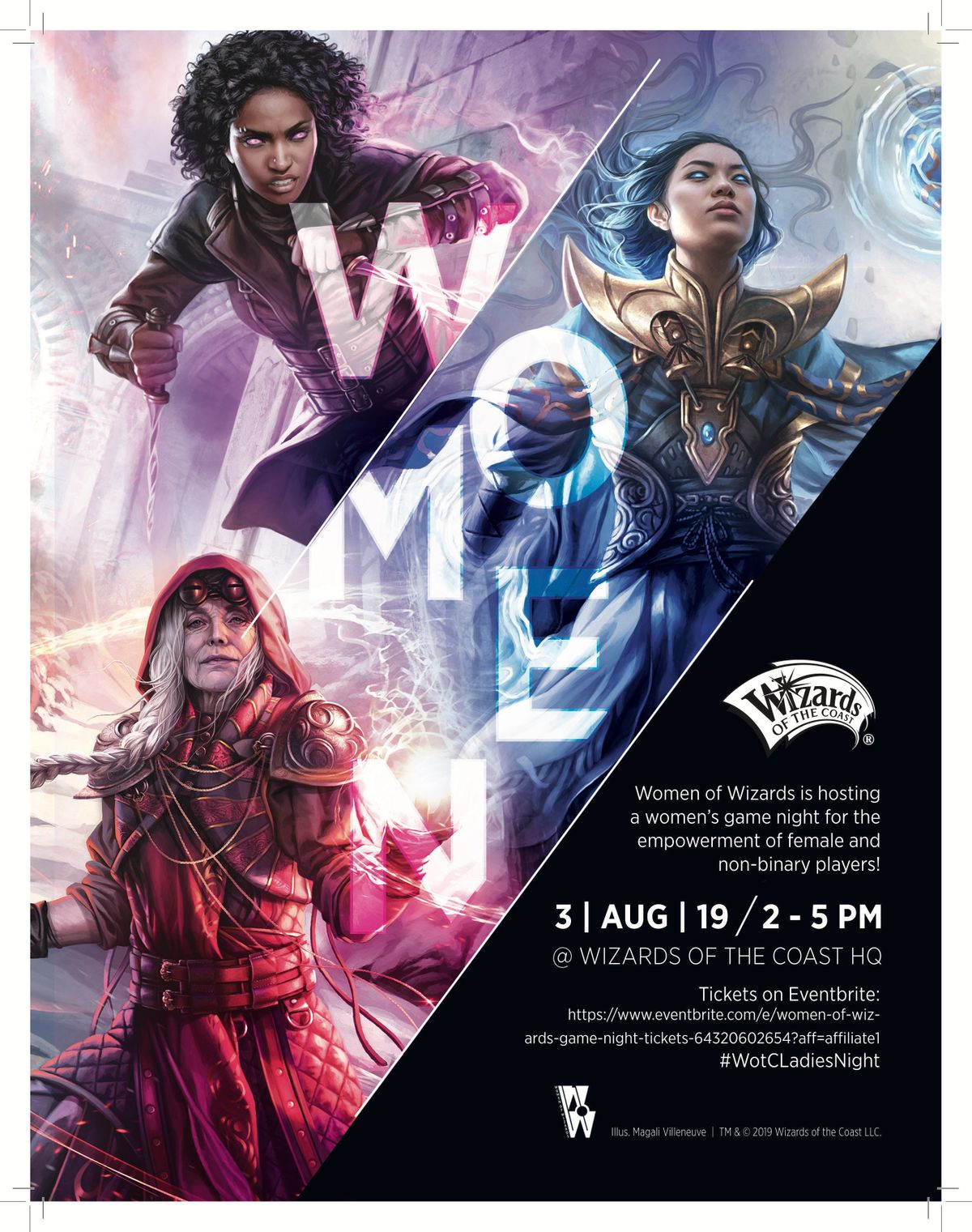 Women of Wizards Game Night at Wizards of the Coast, Renton