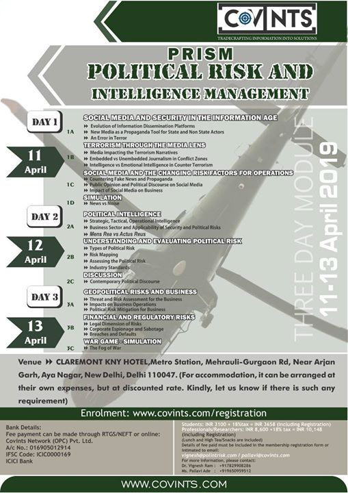 Political Risk and Intelligence Services Management
