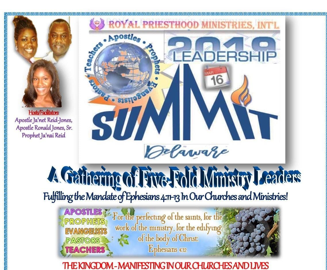 Royal Priesthood Ministries Intl - LEADERSHIP SUMMIT 2019