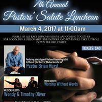 2017 Pastors Salute Luncheon
