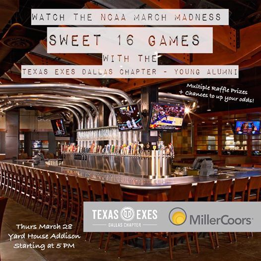 March Madness Sweet 16 Game Watching Happy Hour At Yard House Addison