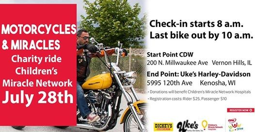 cdw ukes childrens miracle network ride