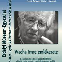 Kerekasztal beszlgets Wacha Imre nyelvsz emlkre