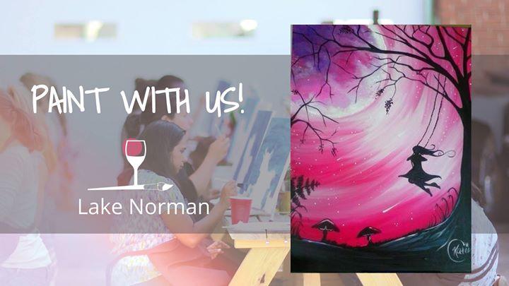 Sip Paint Moonlight Swing At Wine Design Huntersville