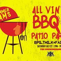 Summer Jams  All Vinyl Bbq  Patio Party - Sat.july 22