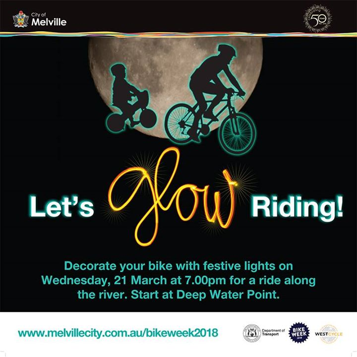 lets glow riding 2018 at deep water point reserve the esplanade