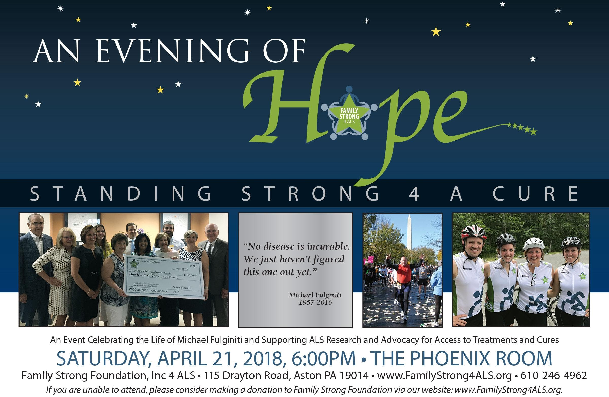 An Evening of Hope by Family Strong 4 ALS at Ballroom at the
