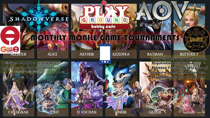 Mmgt Shadowverse Arena Of Valor At Playground Hobby Cafe Manila
