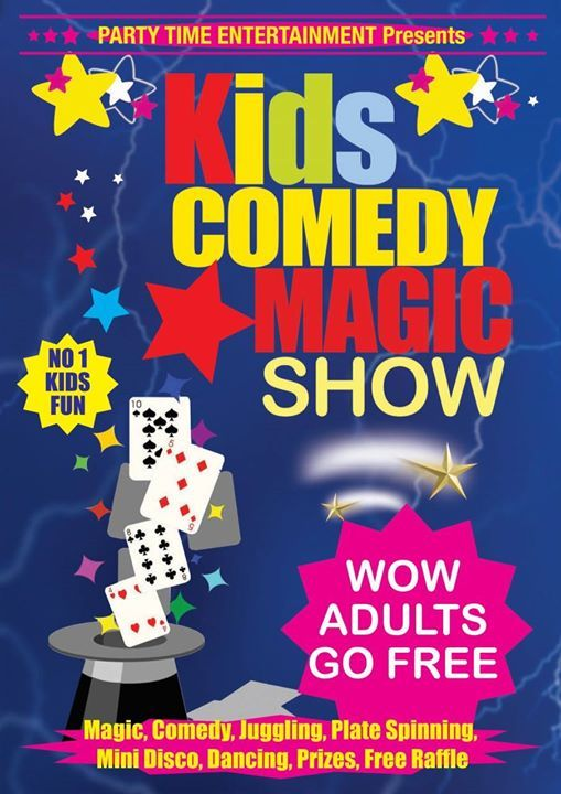 Kids Comedy Magic Show 2019 Tour - Castlebar