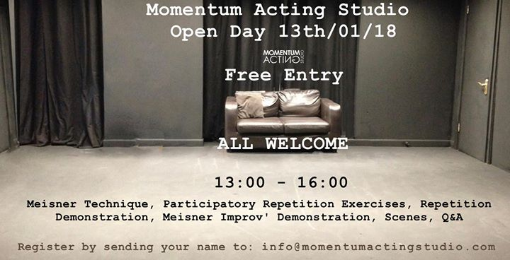 Open Day at Momentum Acting Studio