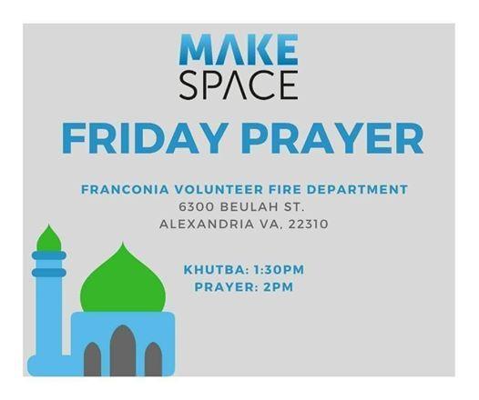 Friday Prayer at Franconia Volunteer Fire Department, Virginia