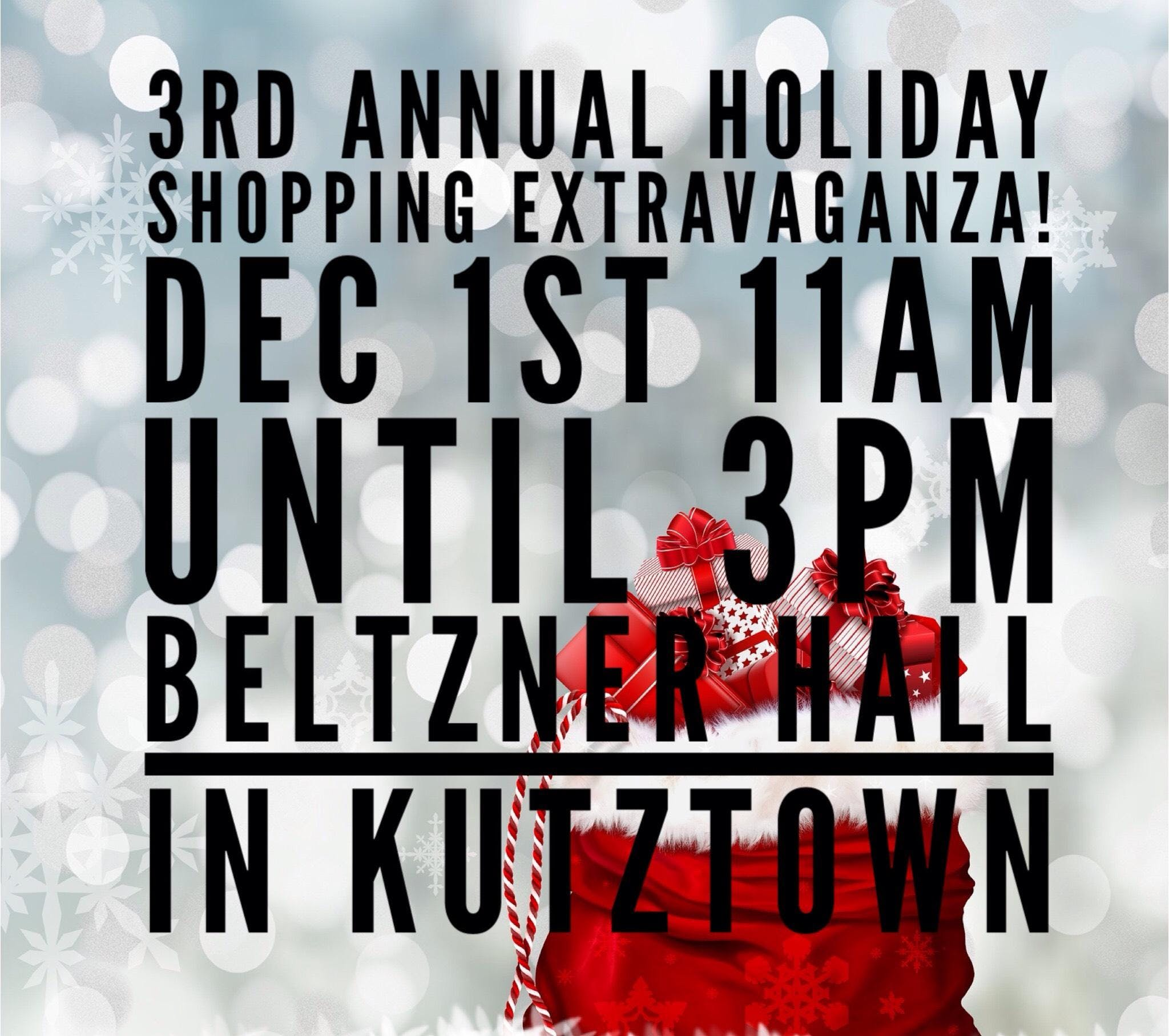 Holiday Shopping Extravaganza! At Kutztown Fairgrounds