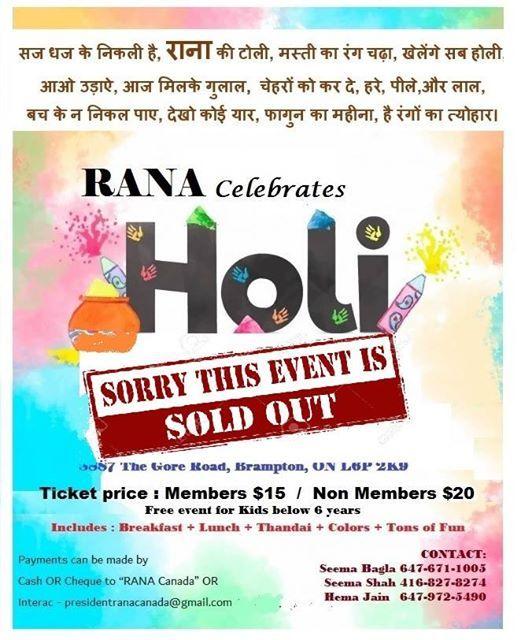 Celebrating Holi - RANA