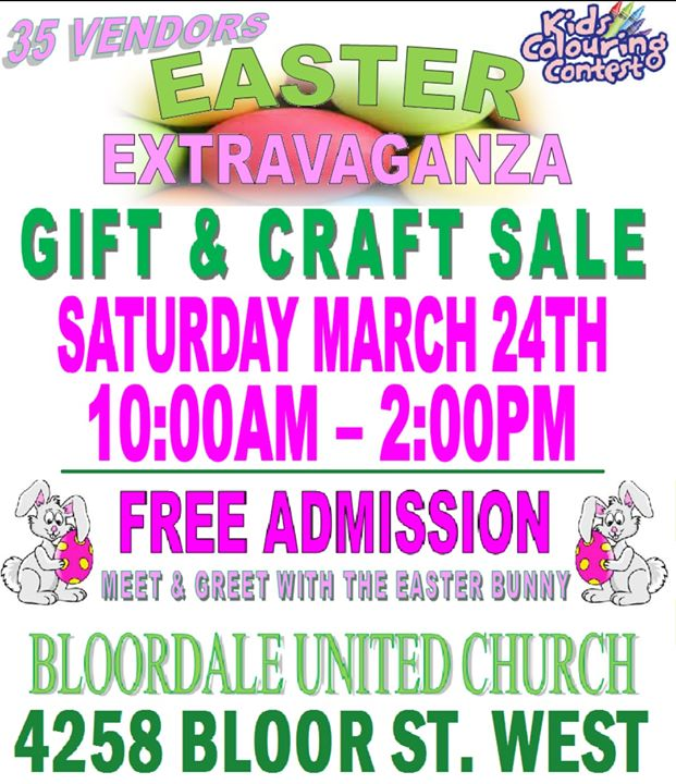 Easter extravaganza gift craft sale at bloordale united church easter extravaganza gift craft sale negle Images