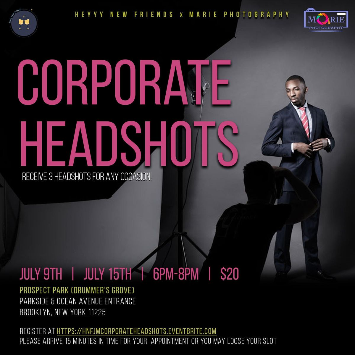 Corporate Headshots at Prospect Park, Brooklyn