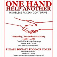 One Hand Helping Another Coat &amp Dinner