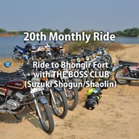 Ride to Bhongir Fort with The Boss Club - 20th Monthly Ride