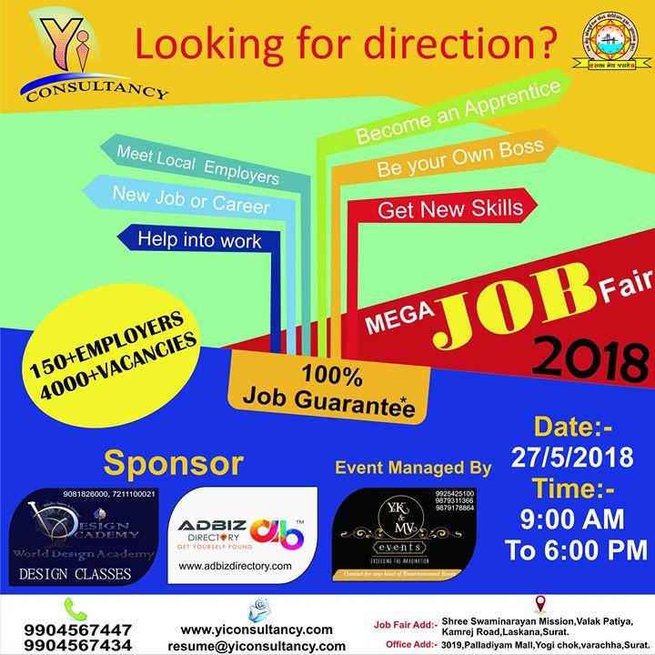 Mega Job Fair 2018 in Surat
