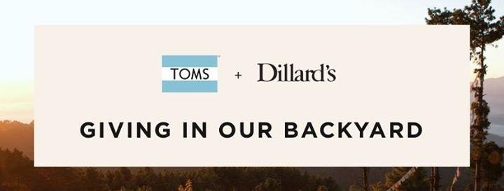 TOMS  Dillards Giving Tour
