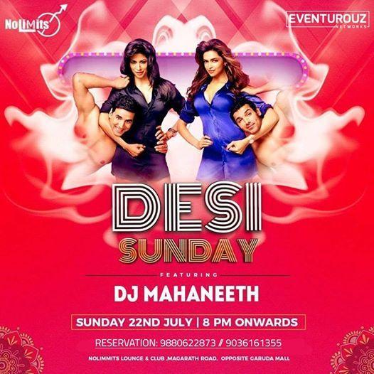 Most Happening Desi Sundays with Dj Mahaneeth at No Limmits