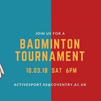 Coventry University Badminton Tournament