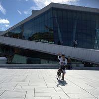 Se kunst fra sykkelsetet