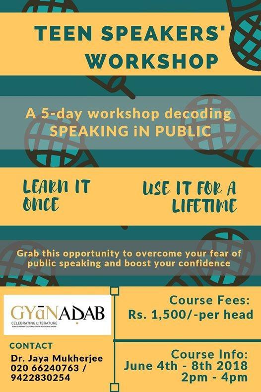 Teen Speakers Workshop