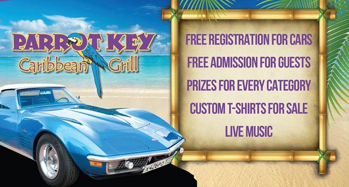 Caribbean CruiseIn Car Show At Parrot Key Caribbean Grill Fort - Parrot key car show