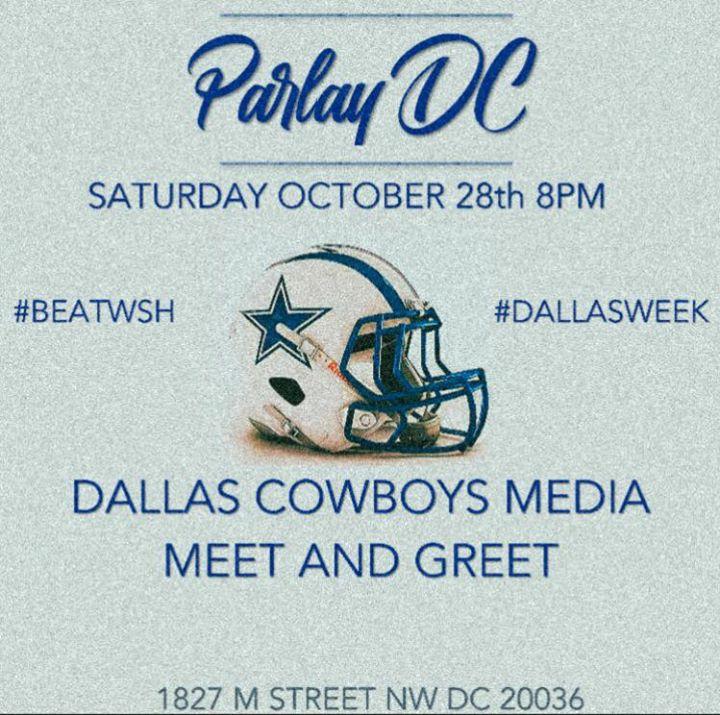 Dallas cowboys media meet greet at parlay dc sports bar lounge dallas cowboys media meet greet m4hsunfo
