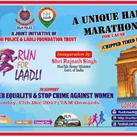 Run For Laadli ( A Unique Half Marathon by Delhi Police)