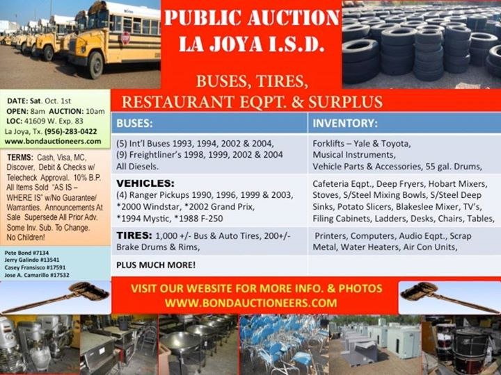 Public Auction - La Joya Isd at 41609 W Expressway 83, La