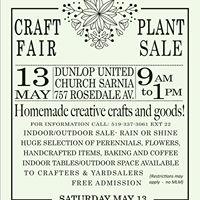 Spring Craft Fair &amp Plant Sale