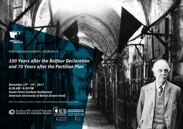 100yrs after Balfour Declaration 70yrs after Partition Plan