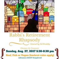 Rabbis Retirement Rhapsody