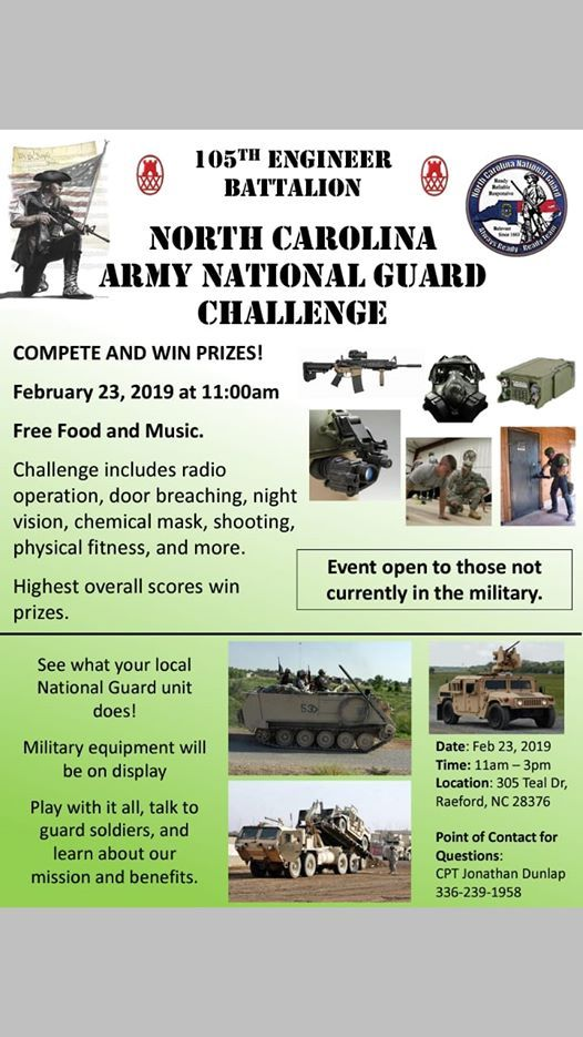 Guard Ex Challenge at 105th Engineer Battalion305 Teal Dr