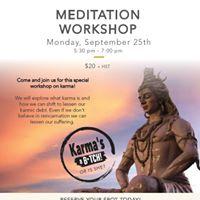Monthly Meditation workshop