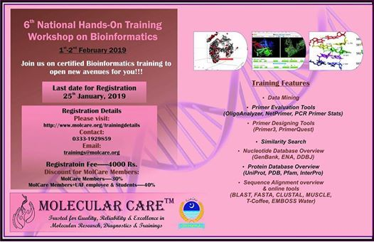 6th National Hands-on Training Workshop on Bioinformatics