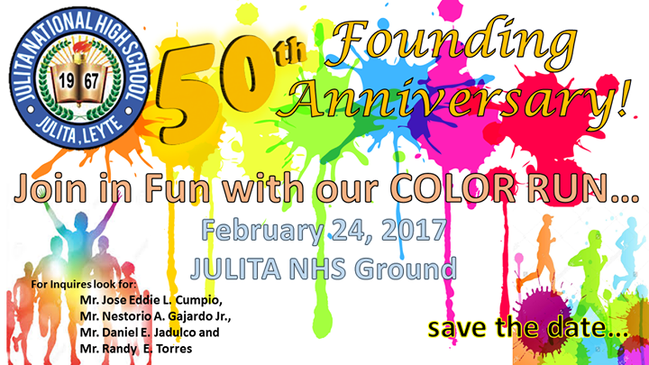 color run at julita national high school julitaleyte leyte