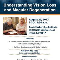 Understanding Vision Loss and Macular Degeneration Seminar