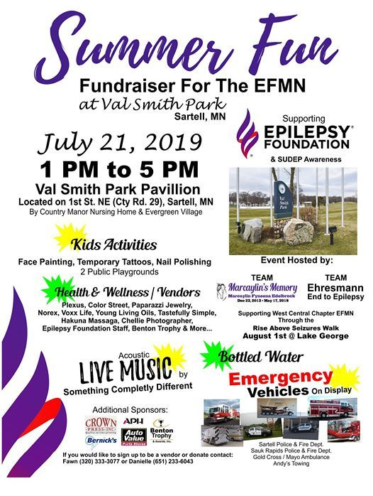 Summer Fun Fundraiser For The EFMN at Val Smith Park, Sartell