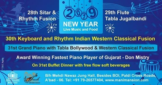 NYE 2019 with Live Music - Grand Piano