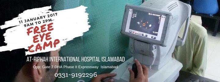 Free Eye Camp at Riphah International Hospital, Islamabad