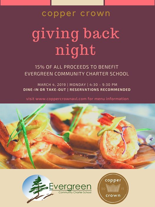 Giving Back Night  Copper Crown Dine Out