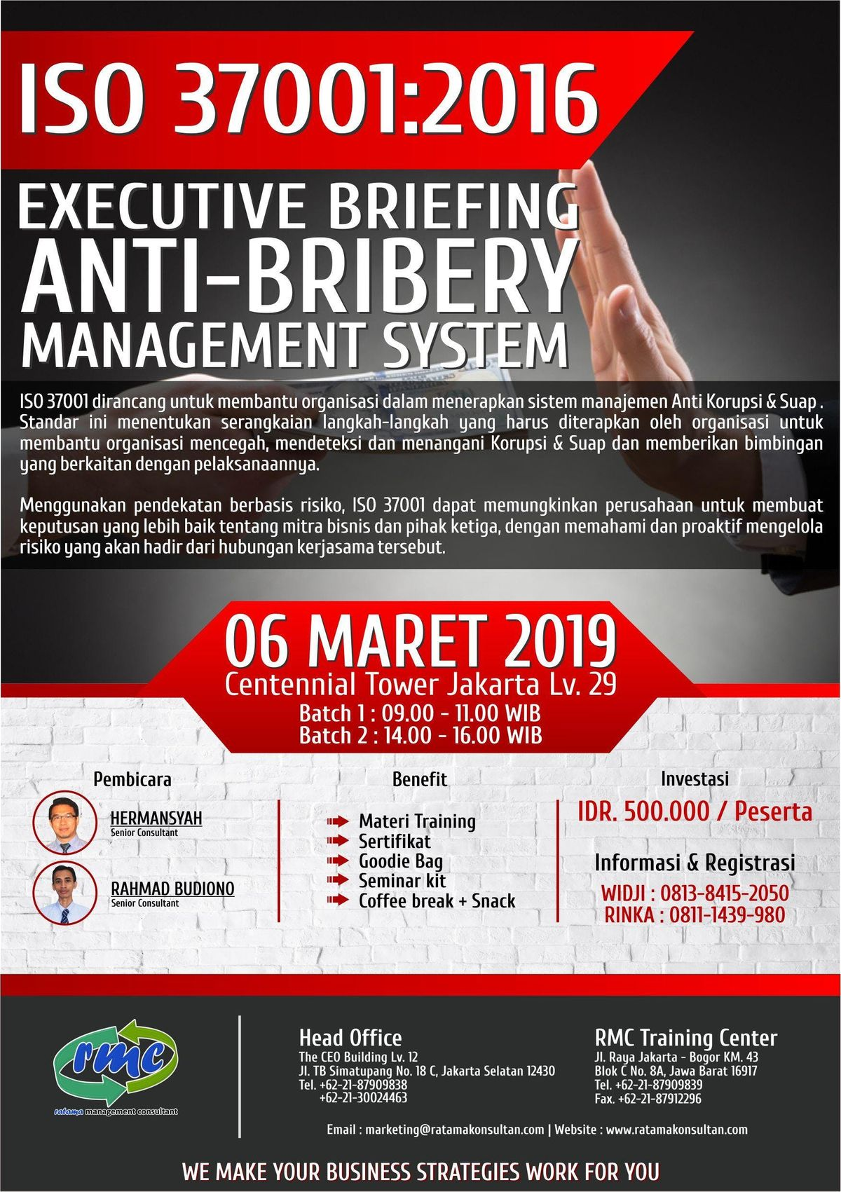 Executive Briefing Anti-Bribery Management System ISO 370012016